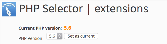 Выбор версий PHP и модулей / расширений PHP в CPanel